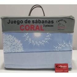 JUEGO DE SÁBANA CORALINA...